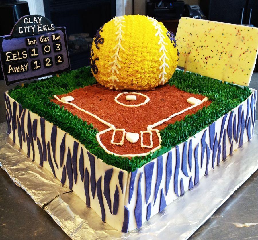 Fine Senior Night Softball Cake Softball Birthday Cakes Softball Personalised Birthday Cards Paralily Jamesorg
