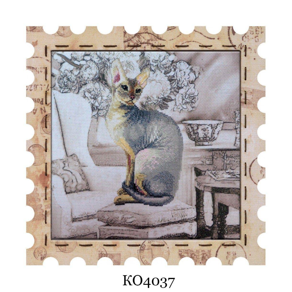 Cats Cross Stitch, Cross Stitch Kit with Frame Cornish Rex