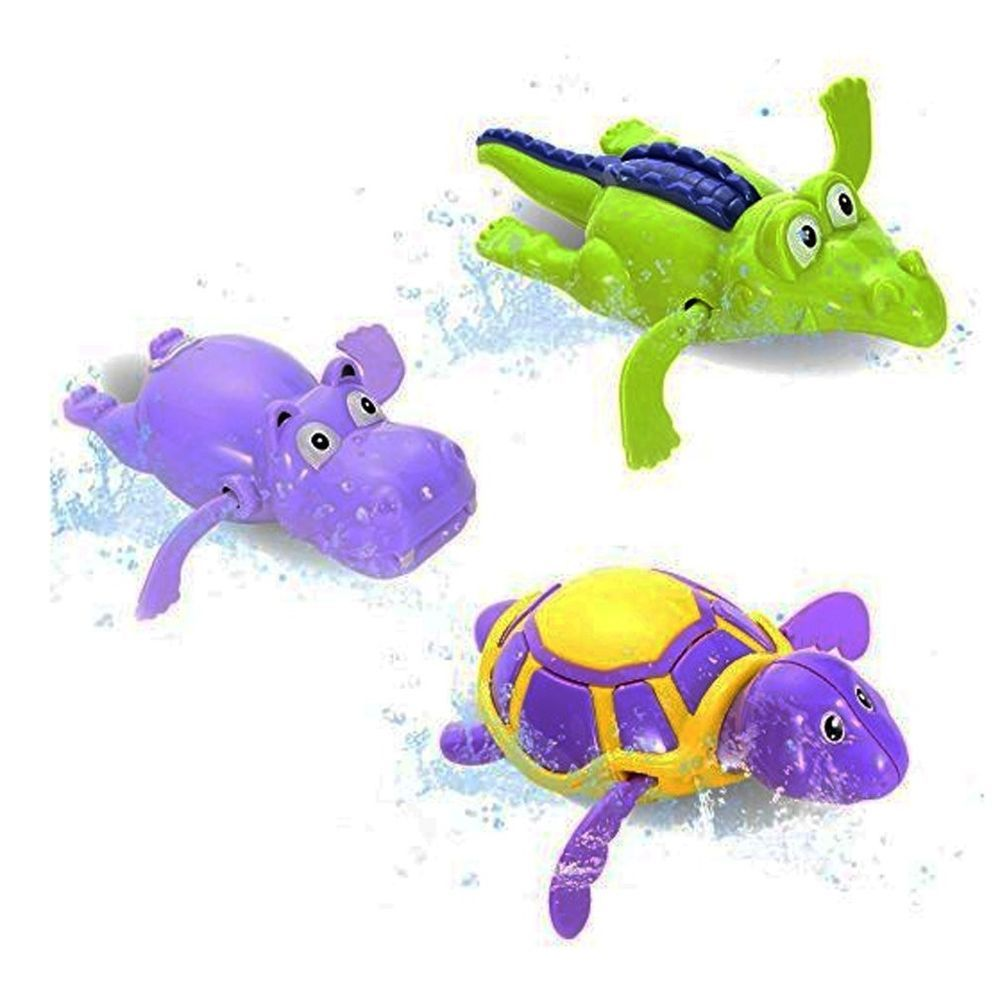 Lovely Kids Gift Bath Toy Swimming Hippo Shape Educational Wind Up