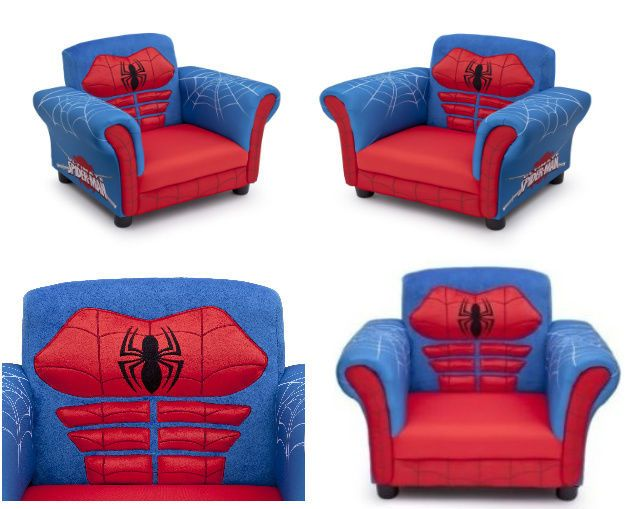 Boys Toddler Kids Spiderman Chair Seat Couch Bedroom Furniture Awesome Spiderman Bedroom Furniture Design Decoration