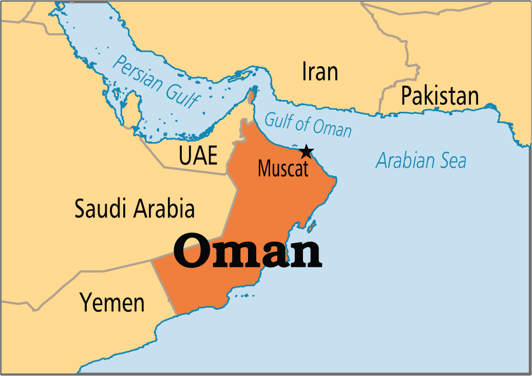 Oman map – Map of Oman and Uae