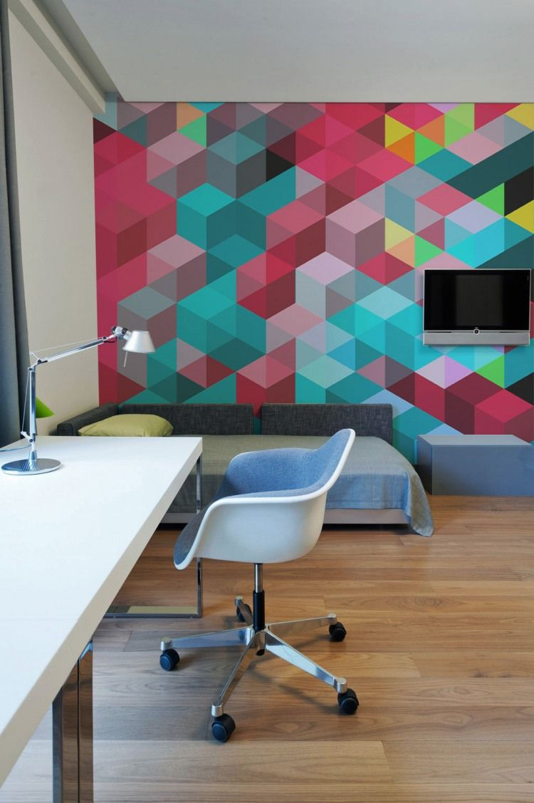 ideas work office wall. beautiful wall geometric wall design from pixers to ideas work office