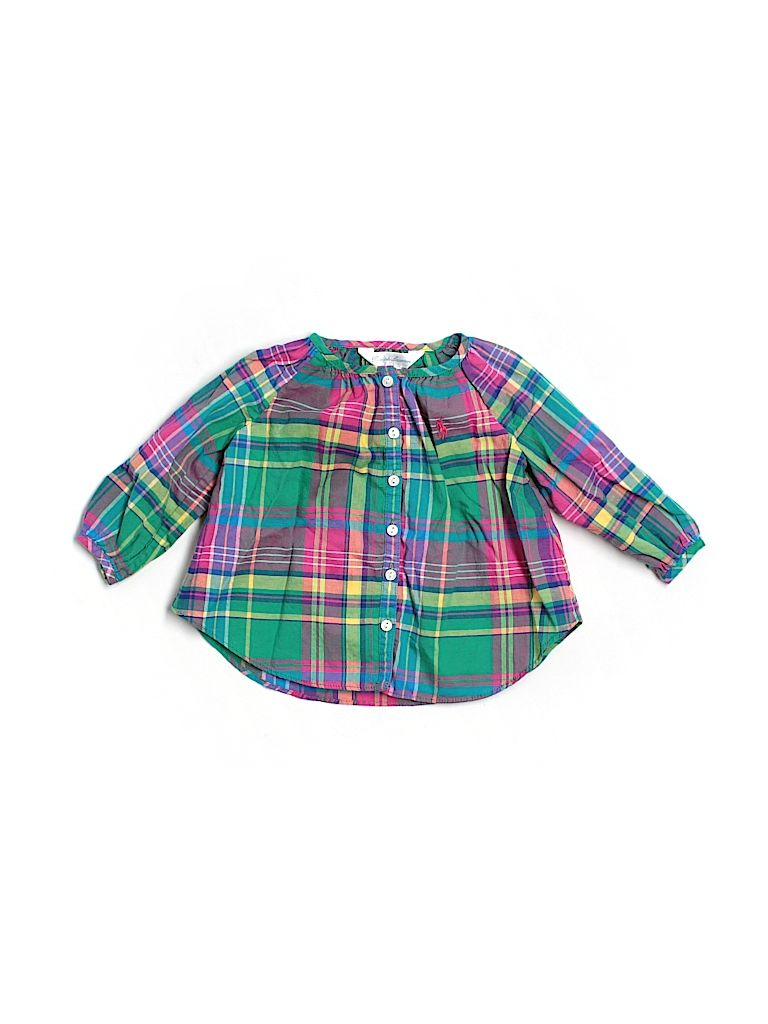 ralph lauren plaid baby blouse - $16