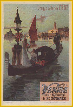 Venise - Belfort, Bale, Lucerne, le Saint-Gothard - 1899 - illustration de Hugo d'Alesi