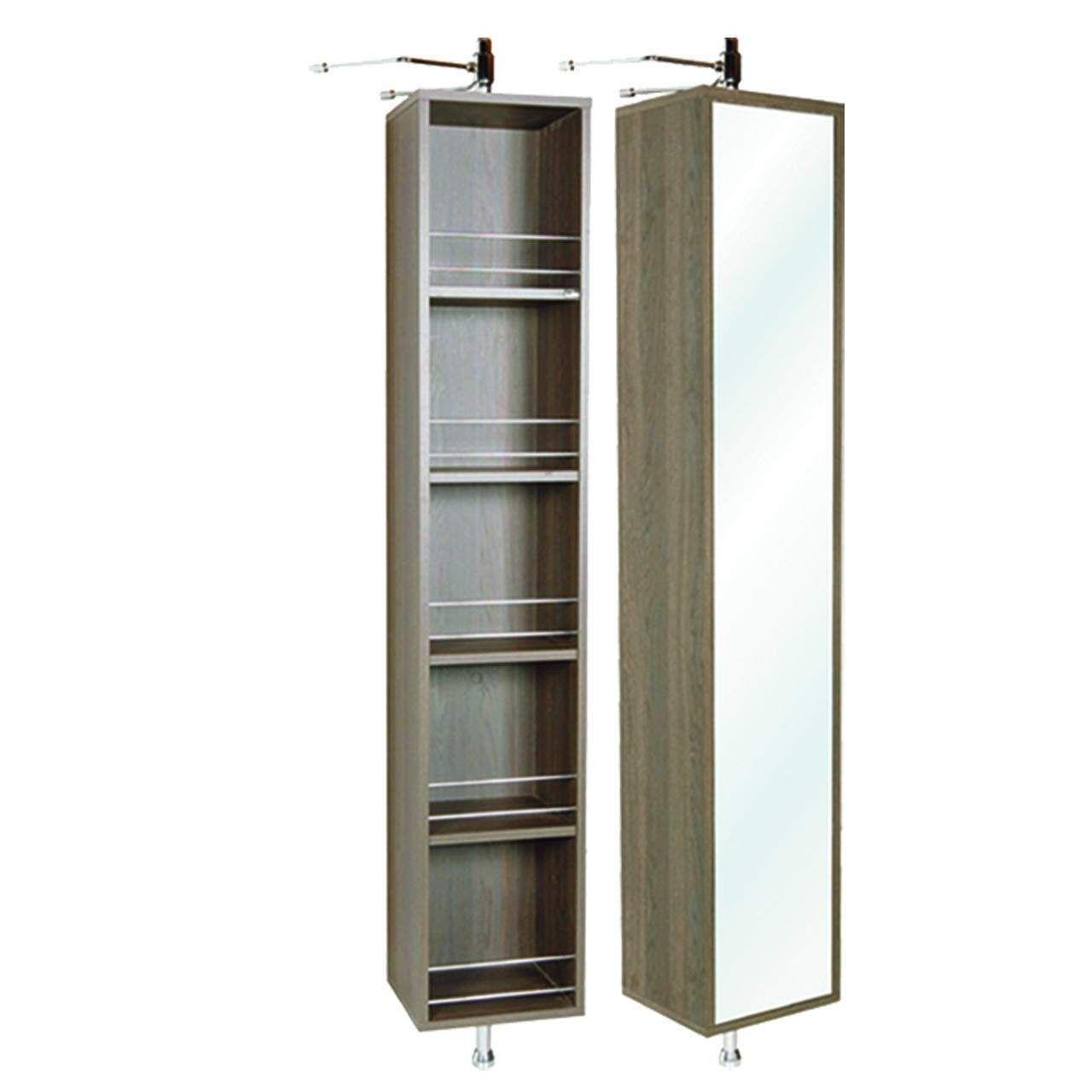 Zola Mezzo Turn Panel Rotating Mirror Open Shelf Zerkalo S Yashikami Hranenie V Vannoj Vannaya Komnata