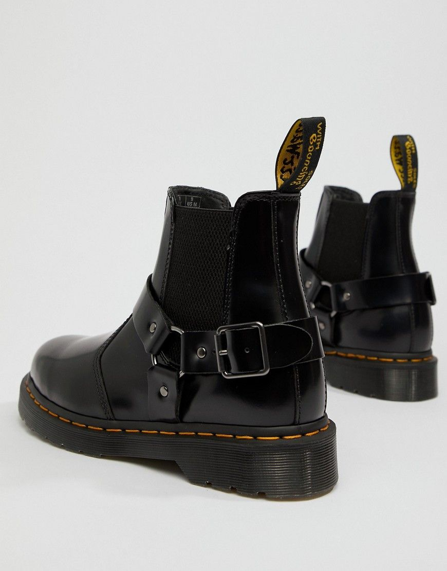 aa2a80ec5ff DR. MARTENS WINCOX CHELSEA BOOTS IN BLACK - BLACK. #dr.martens ...