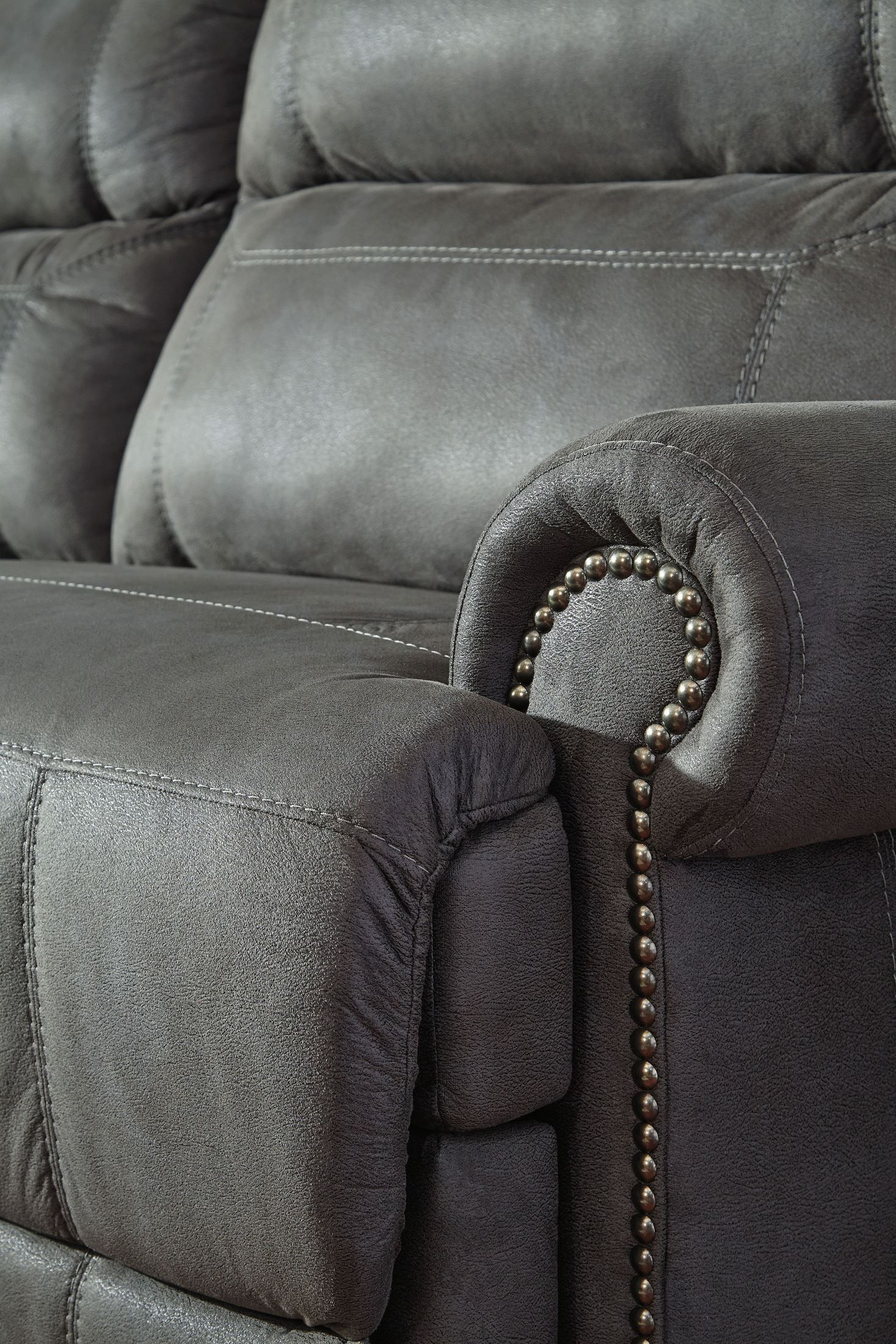 Austere Gray Reclining Living Room Set Leather Couches Living