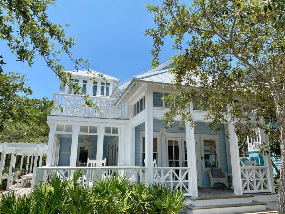 120 Steps To Beach In Seaside 5 Porches Tower W Gulfviews Seaside Cottage Outdoor Sitting Area Seaside