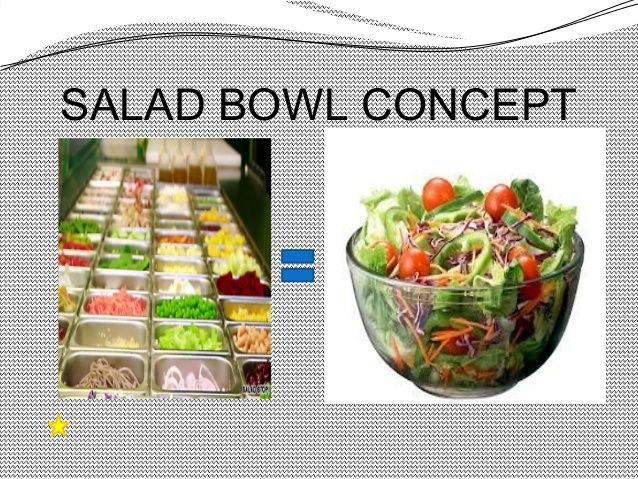 is america a nation or a salad bowl Melting pot vs salad bowl : a comparative study in as the nation of nations, the existence of races in america plays an important role through the salad bowl concept describes america as the bowl consisting.