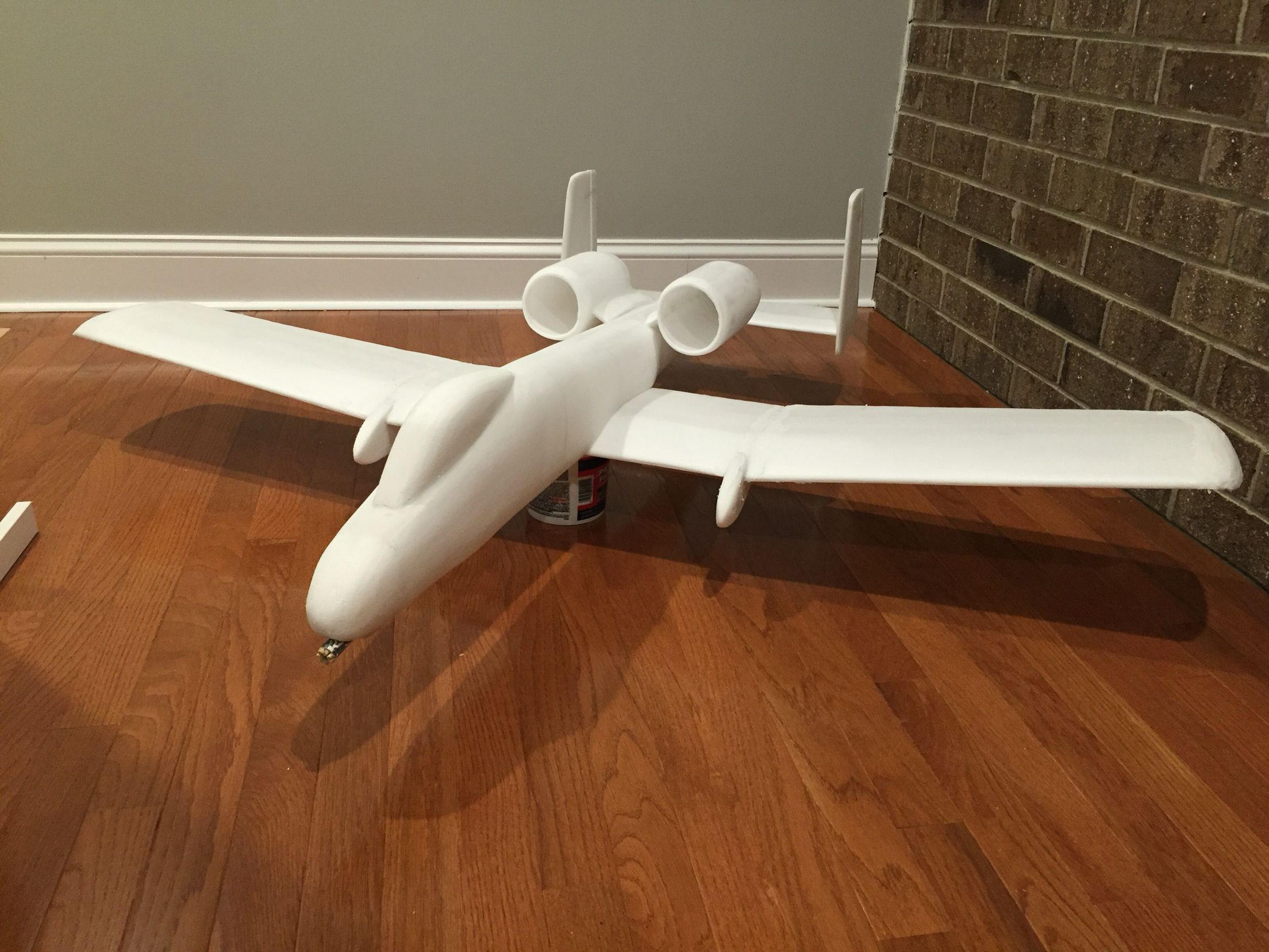 A-10 RC Airplane made from100% Dollar Tree Foam Board (DTFB