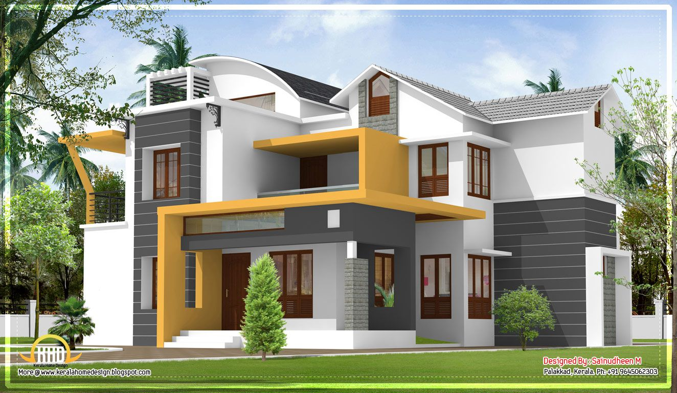 Modern contemporary Kerala home design - 2270 Sq.Ft ... on Modern House Painting Ideas  id=32116