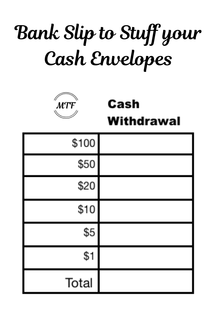Tell The Bank Teller What Cash You Want For Your Cash Envelopes Cash Envelopes Cash Envelope System Envelope System