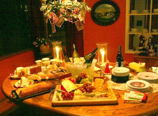 Wine & Cheese Party Table Decorating | wine and cheese bar ...