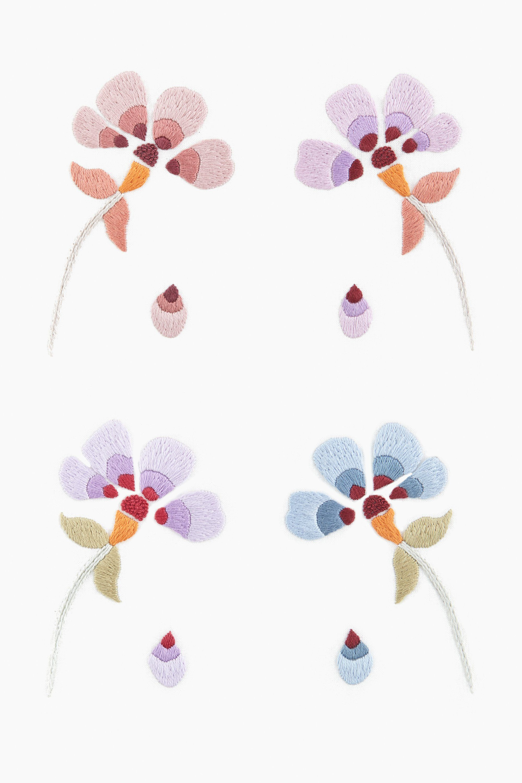 Flower Power Violeta - diseño | Bordados | Pinterest | Bordado y ...
