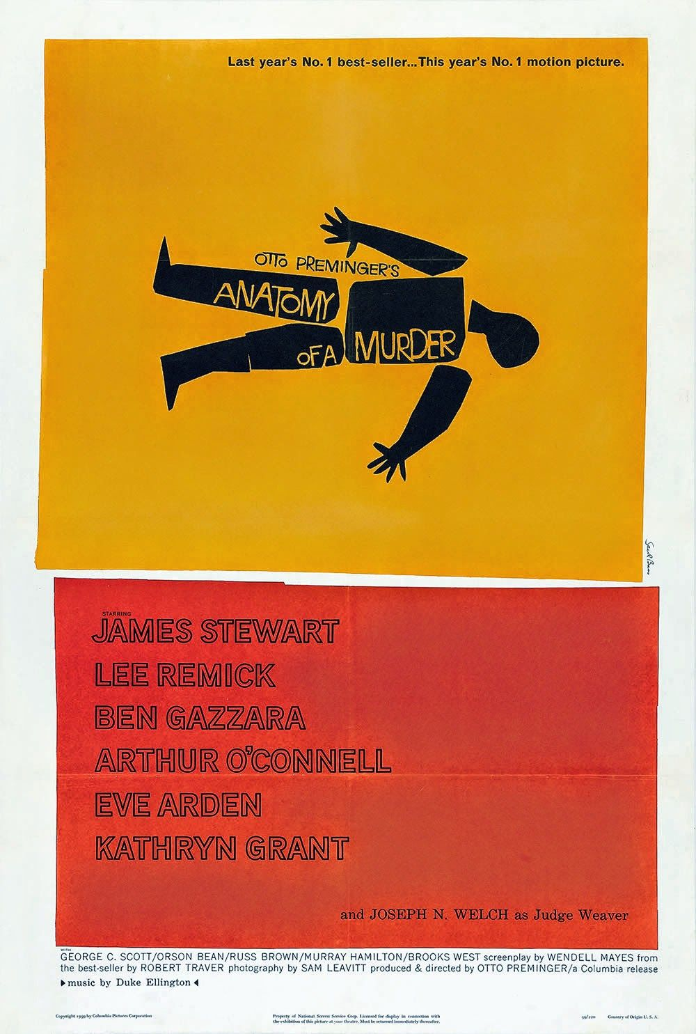 #SaulBass #AnatomyofaMurder #OttoPreminger #movieposters