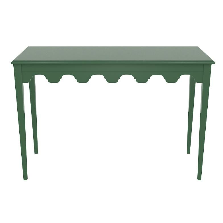 Bristol Scalloped Lacquer Console Table Green 19 Colors Available Unique Console Table Console Table Table