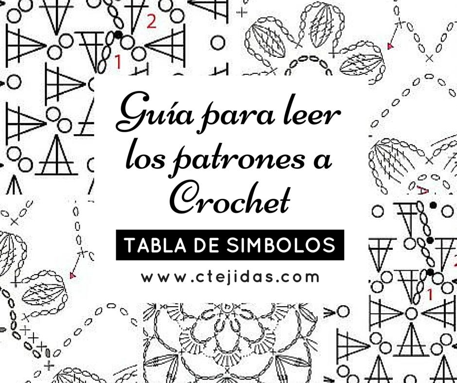 Tabla de Símbolos de Crochet | ¿y si tb hago crochet? | Pinterest ...