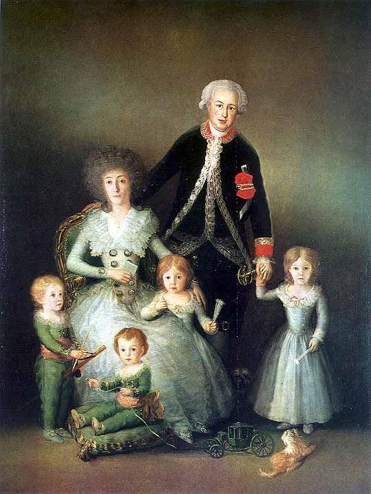 La familia de los duques de Osuna, por Goya