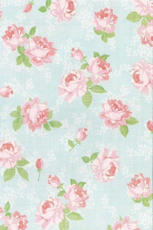 Blue Vintage Retro Rose Floral Background Repeating ... |Vintage Floral Rose Pattern