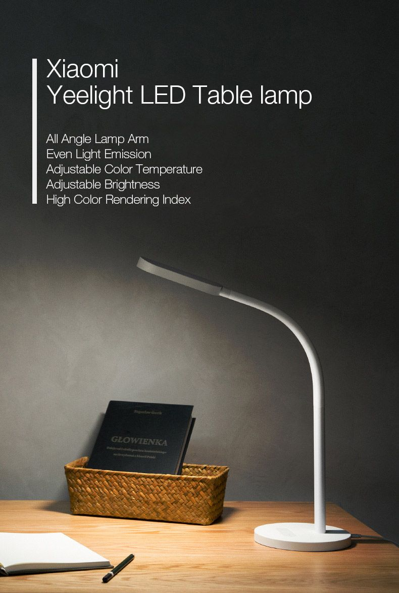 Original Xiaomi Yeelight 3w 60 Led Touch Dimmable Desk Lamp Smart Table Light For Home Light Table Lamp Smart Table