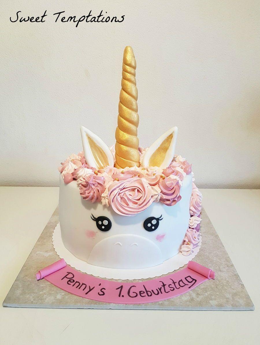Unicorn Cake Unicorn cake for little Penny. Hair is made ...
