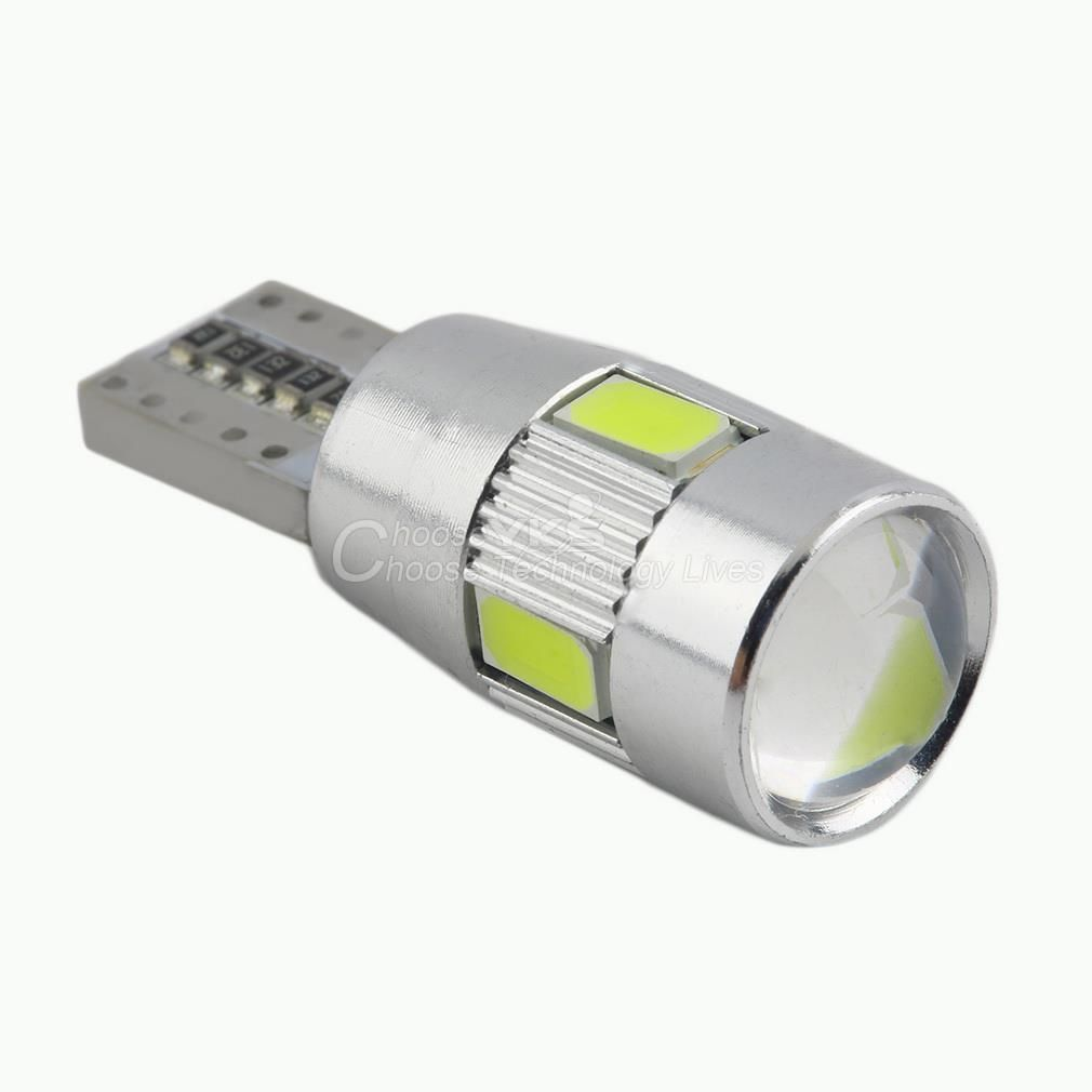 Auto Car T10 Led Bulb Hid Xenon White Light Canbus W5w 5630 6 Smd Parking Fog Light Lamp 194 192 158 Hot Selling Car Led Lights Led Light Bulb Light Bulb Lamp