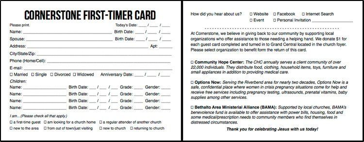 Church Visitor Card Template Word In 2021 Card Template Professional Graphic Design Postcard Template