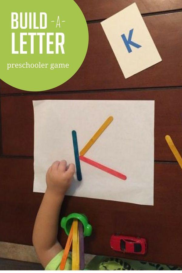 Build A Letter Game For Preschoolers  Letter Games Worksheets