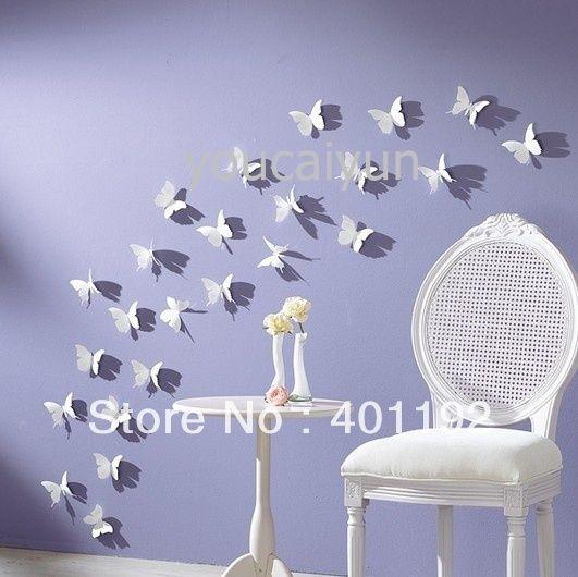 Env o gratis 10 pcs pack diy 3d etiqueta de la pared de for Decoracion hogar 3d