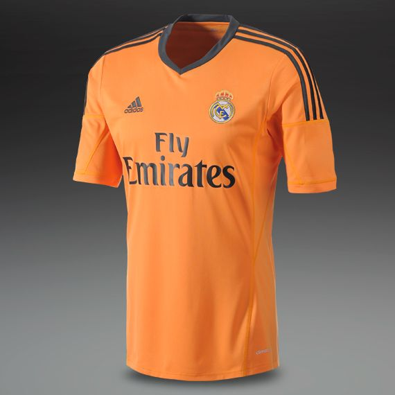 6912e548ded Size L- Item #6 Most Wanted - Football Shirts - adidas Real Madrid 13/14  Third Replica Short Sleeve Jersey - Replica Clothing - Light Orange-Dark  Shale