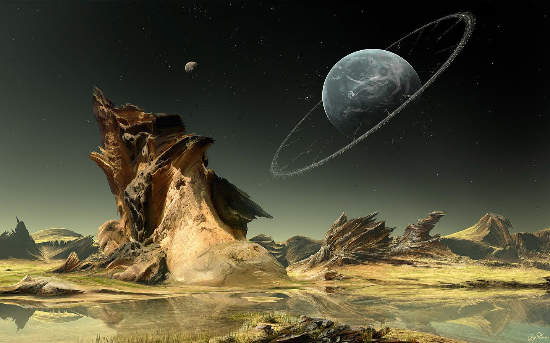 Sci Fi Fantasy Artwork 100 Inspirational Digital Art Wallpapers Inspirational Digital Art Fantasy Landscape Sci Fi Wallpaper