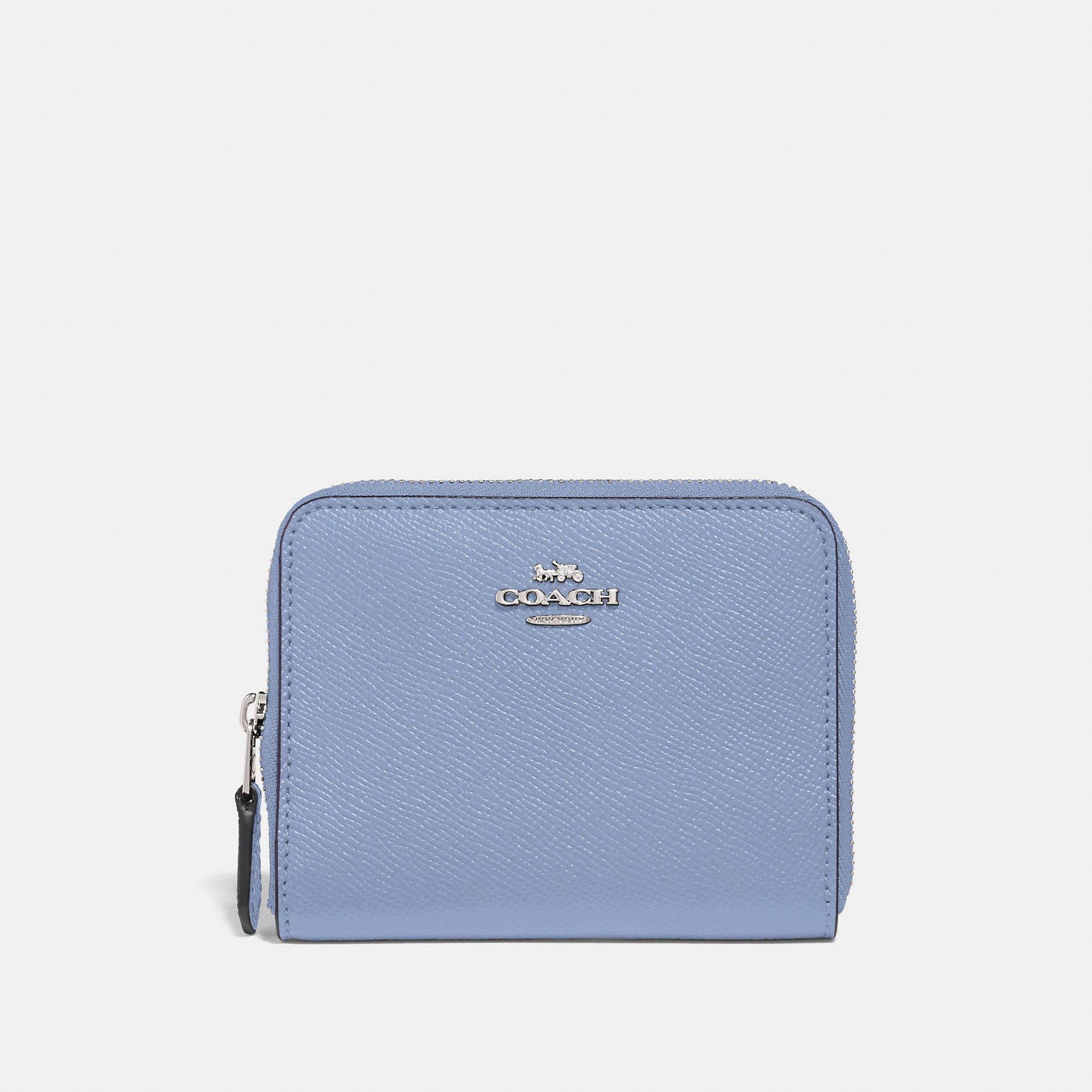 Coach Small Zip Around Wallet In Silver Mist Modesens Zip Around Wallet Wallets For Women Cute Wallets