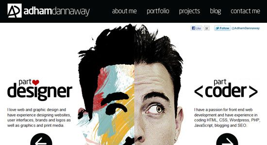 30 Creative Portfolio Designs to Inspire Designers - DJDESIGNERLAB