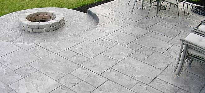 Beau Cost To Pour Stamped Concrete Patio More