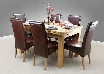 Dorset Natural Solid Oak Dining Set  4Ft 7  Solid Oak Oak Classy Extending Dining Room Tables And Chairs Review