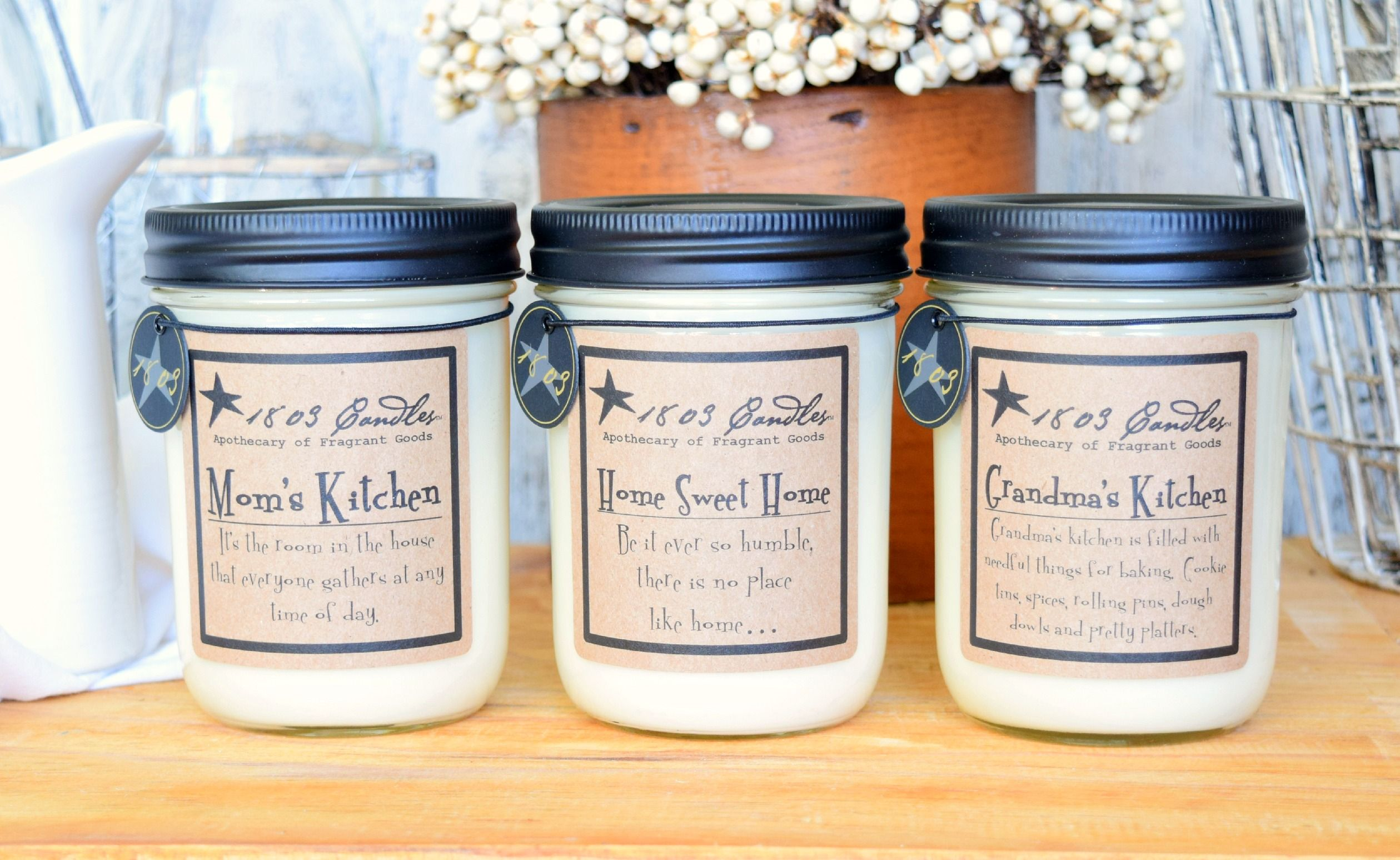 Kitchen Candles Redo Ideas 1803 Mom S Home Sweet And Grandma 14 Oz Soy Mason Jar