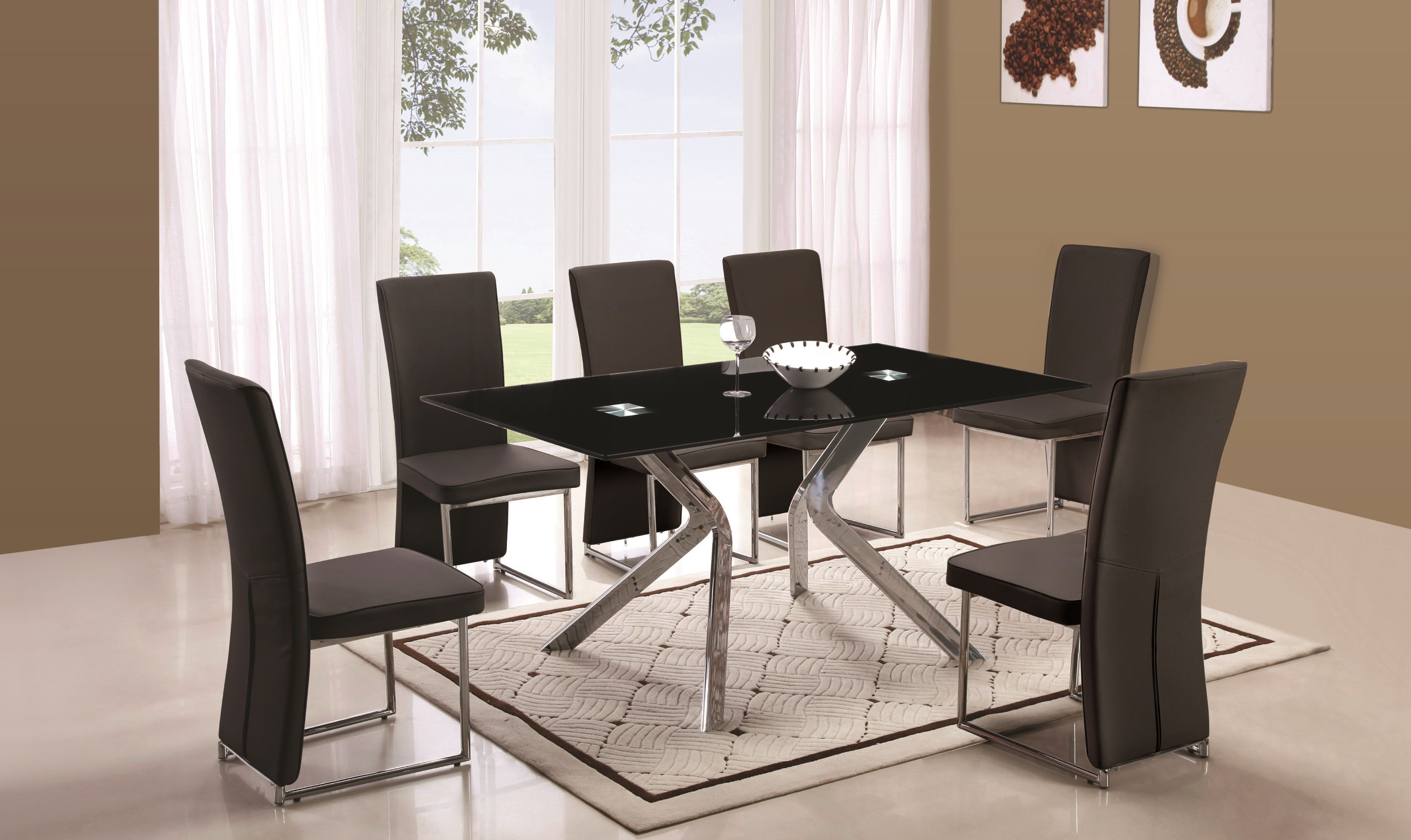 Black Granite Dining Room Table Perfect Tempered Black Glass Dining Table  Httppatiobeachclub