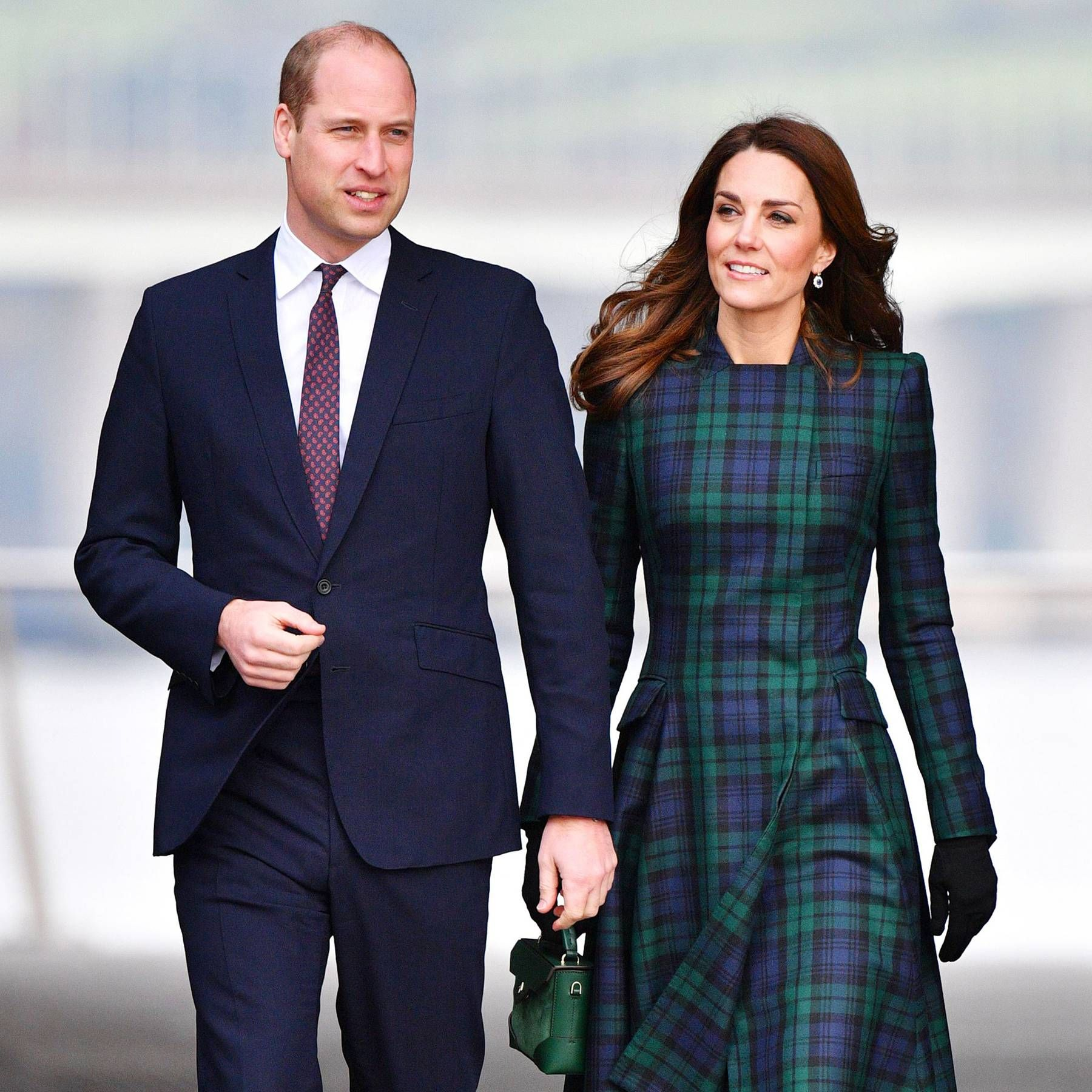 The Duchess Of Cambridge Arrives To Open The V A Dundee In Tartan Mcqueen Kate Middleton Duchess Of Cambridge Middleton