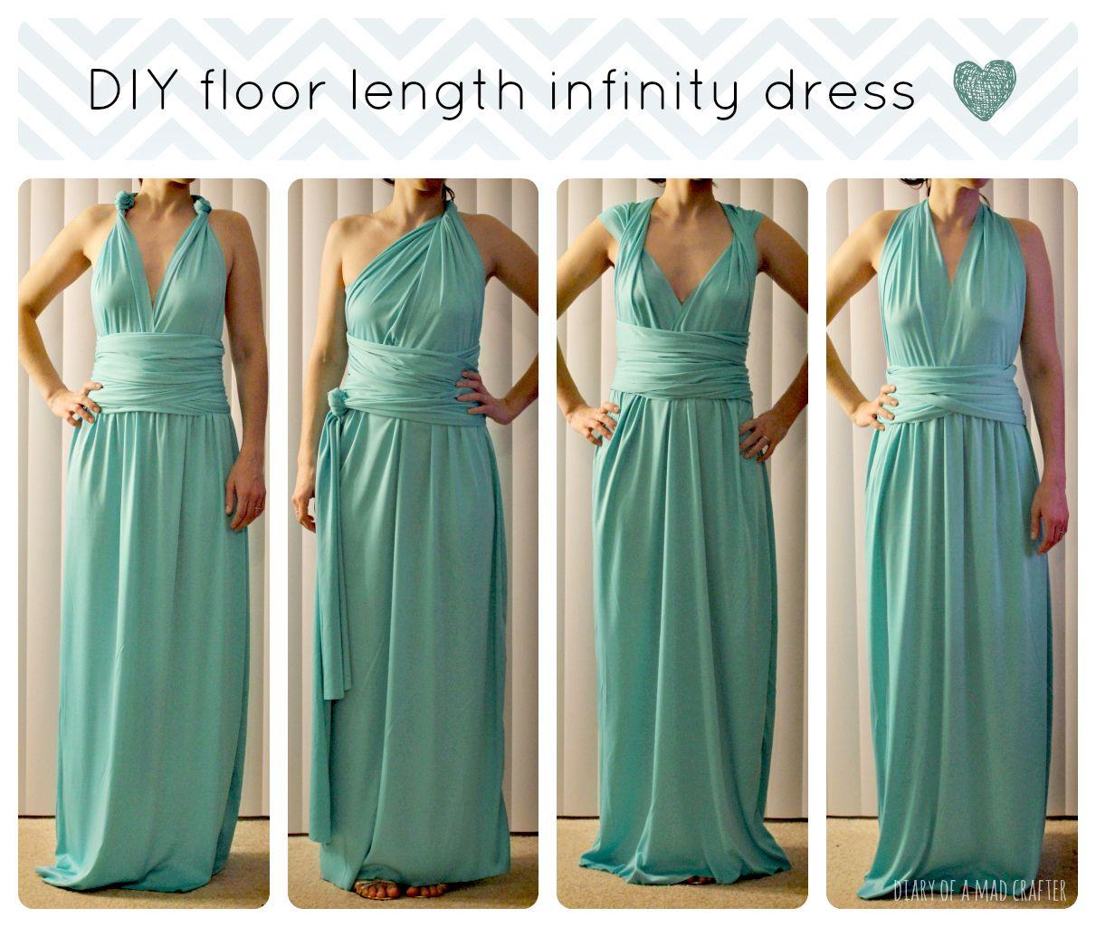 DIY Floor Length Infinity Dress Dress sewing tutorials