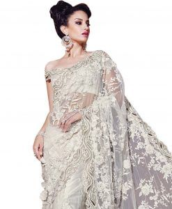 Sari Mariage Blanc  Sari Bollywood  Style Bollywood