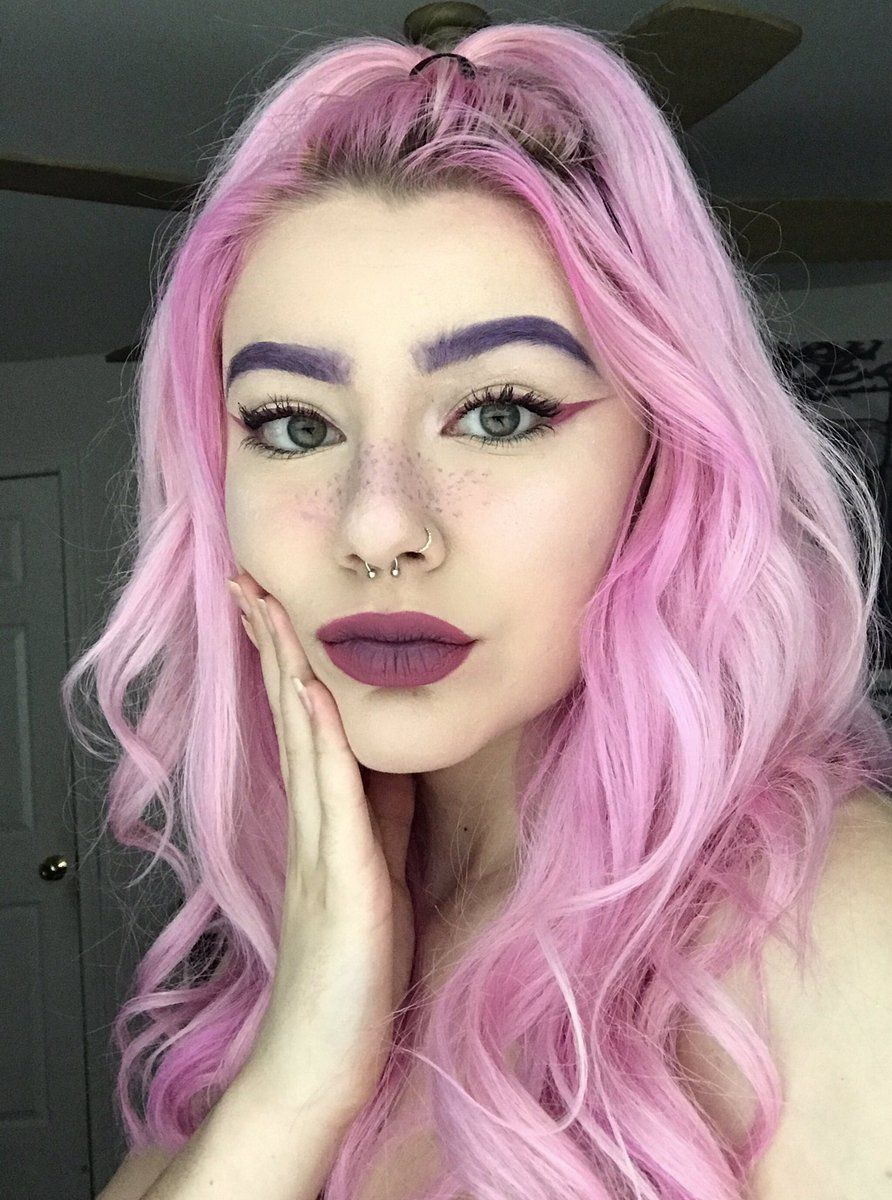 (52) Twitter | How to color eyebrows, Hair color purple ...