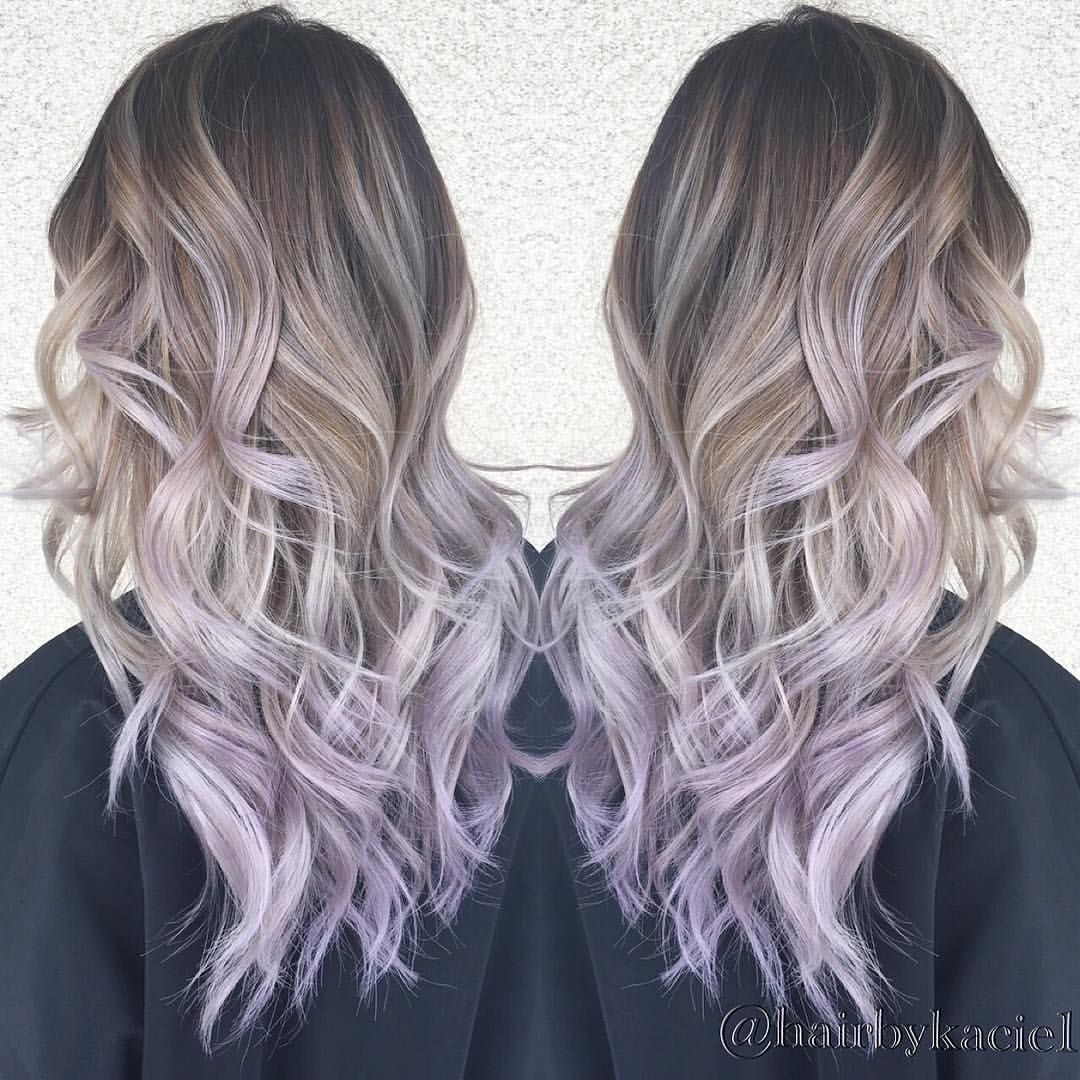 Image Result For Blonde Lavender Balayage With Images Light