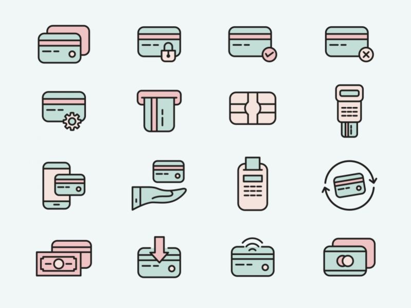 Credit Card Vector Icons Credit Card Icon Credit Card Vector Icons