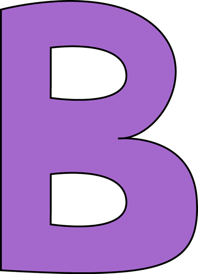 b purple letter b clip art image large purple capital letter b rh pinterest com letters clip art printable letter clipart alphabet