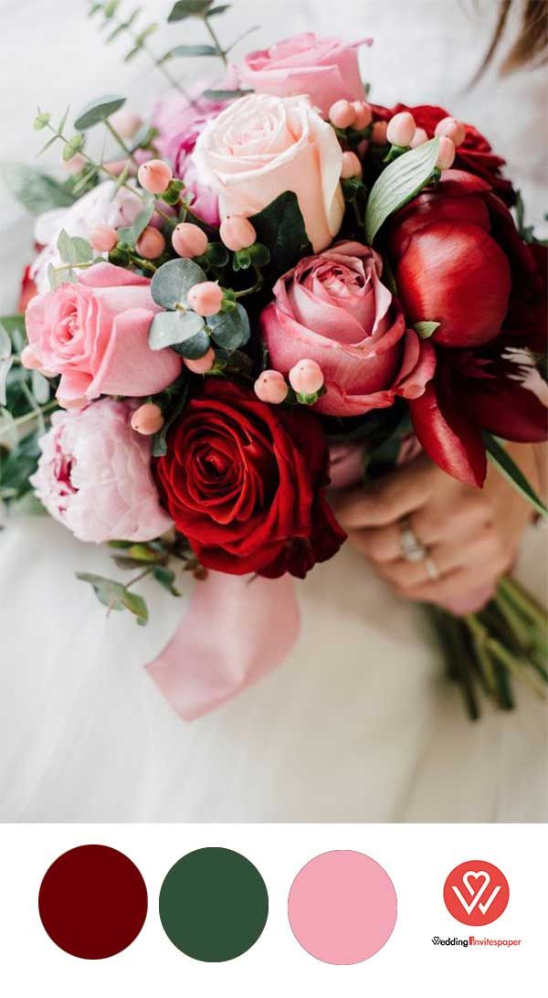 50+ Prettiest Rose Wedding Bouquets Inspirations Incorporated into Invitations for Every Season