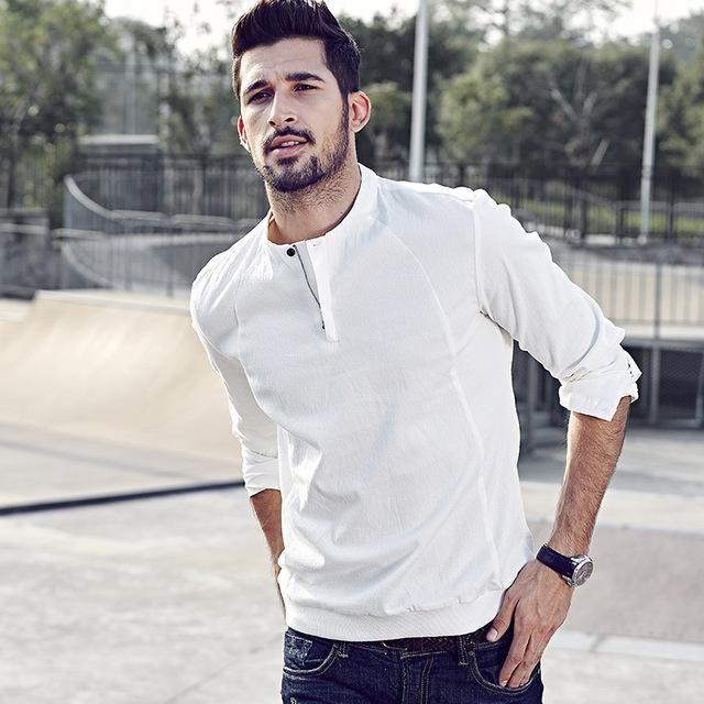Men wear autumn long sleeve men shirt casual shirt