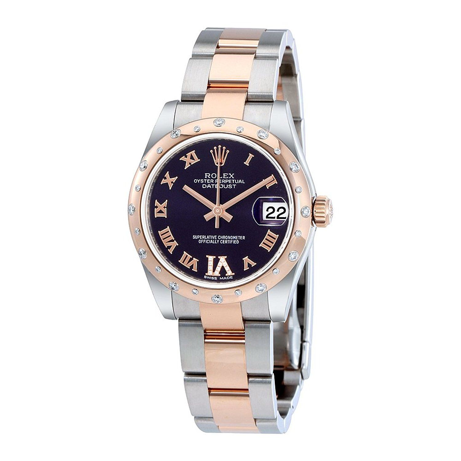 35642591d6e Rolex Oyster Perpetual Datejust 31 Purple Dial Stainless Steel and 18K  Everose Gold Rolex Oyster Automatic Ladies Watch 178341PURDO >>> Quickly  view this ...
