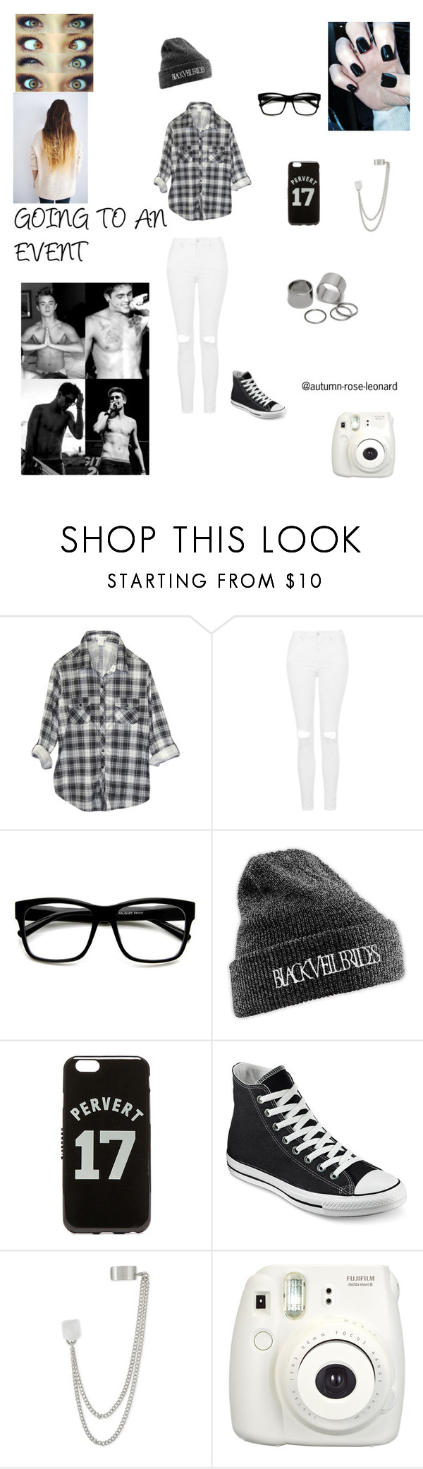 """GOING TO AN EVENT"" by autumn-rose-leonard ❤ liked on Polyvore featuring Wet Seal, Topshop, Retrò, Givenchy, Converse, French Connection, Pieces, women's clothing, women's fashion and women"