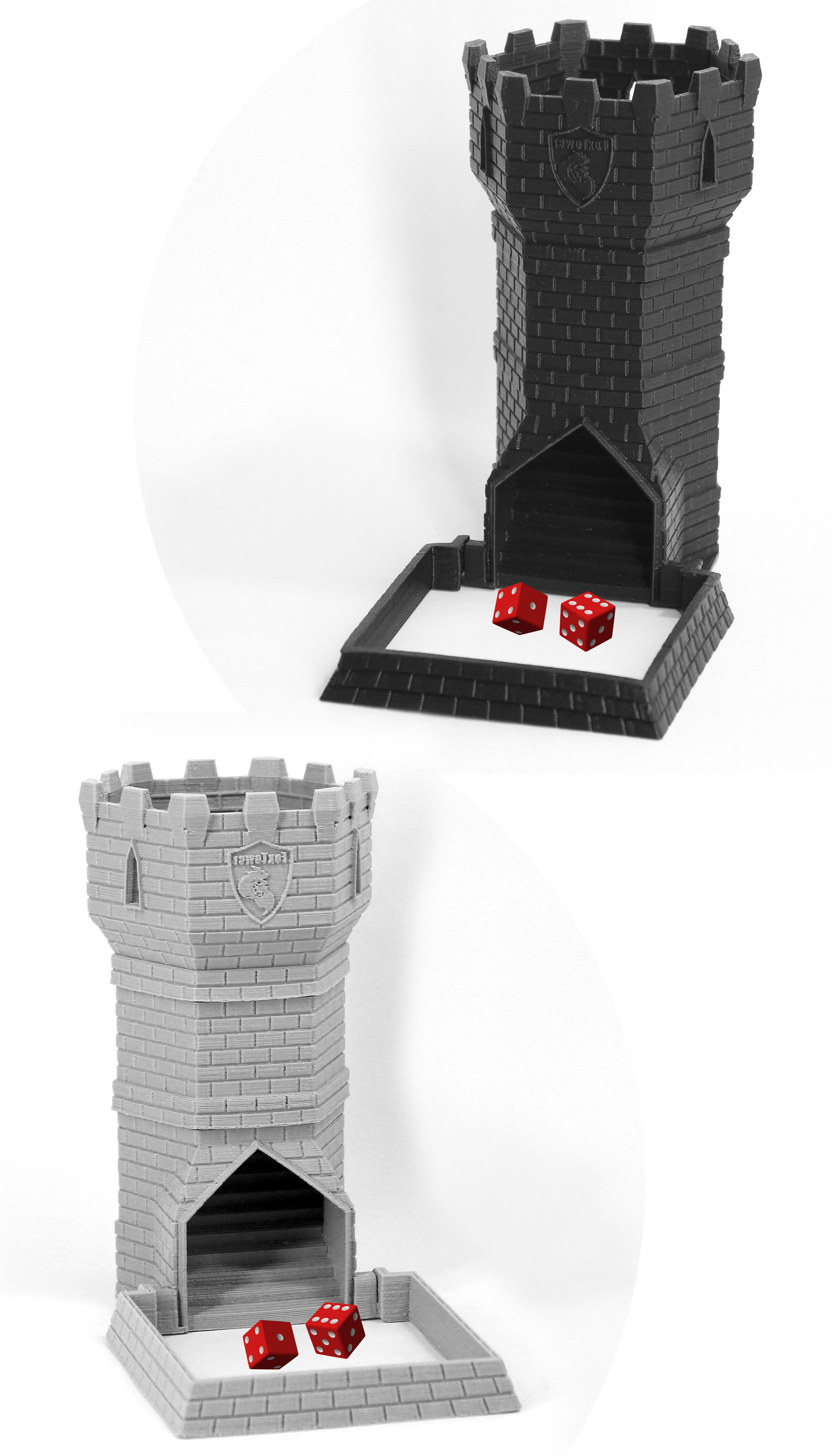 FoxTower, Normal Size Dice Tower for RPGs and Board Games