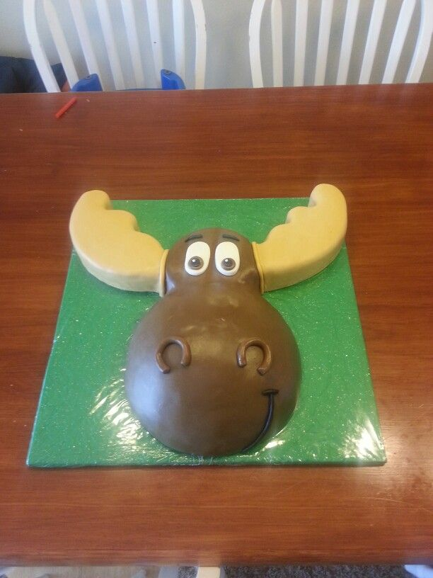 Remarkable Moose Cake With Images Moose Cake Adult Birthday Cakes Moose Funny Birthday Cards Online Overcheapnameinfo